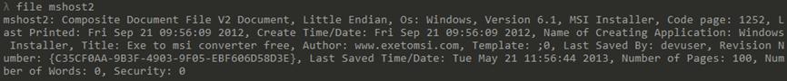 図4:EXEからMSIへのコンバータを使用したMSIインストーラのペイロード