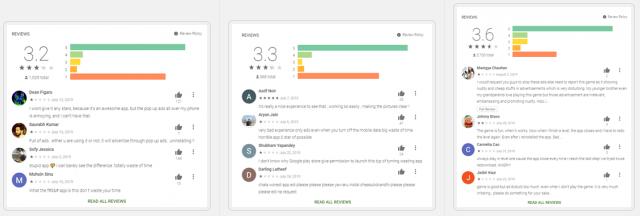 図12:アドウェアが埋め込まれていたアプリのレビューの例