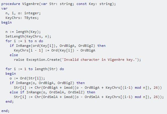 図7:スタックオーバーフローのDelphiコード