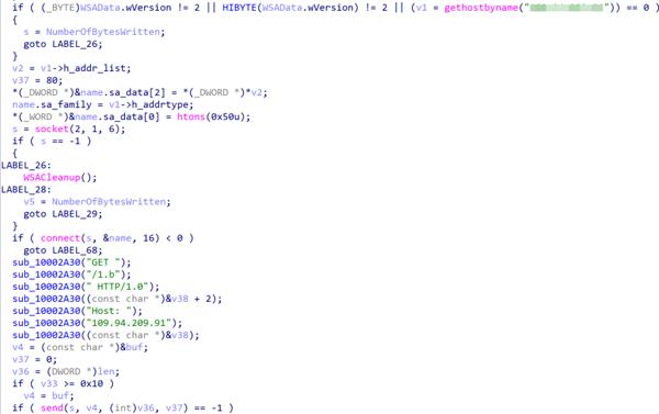 図20:ソケットAPIを使用してHTTP要求を送信する