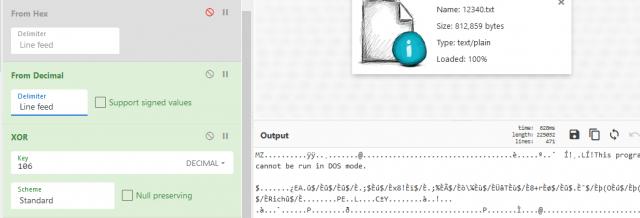 図19:実行ファイルがディスクに書き込まれて実行される