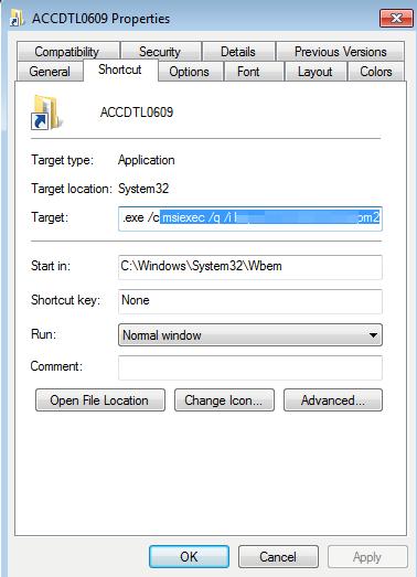 図3:ISOイメージファイル内のショートカットファイル(「.LNK」)