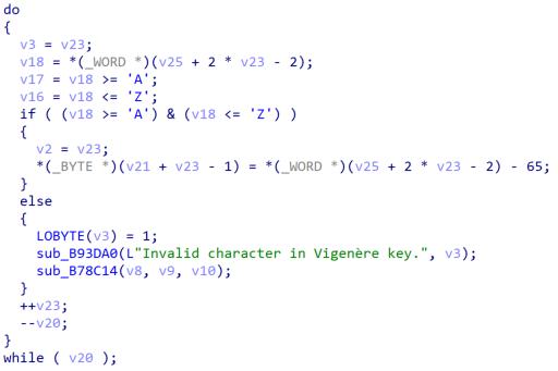 図6:ServHelperの中のヴィジュネル暗号