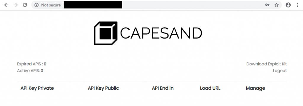 図1:エクスプロイトキット「Capesand EK」の操作パネル