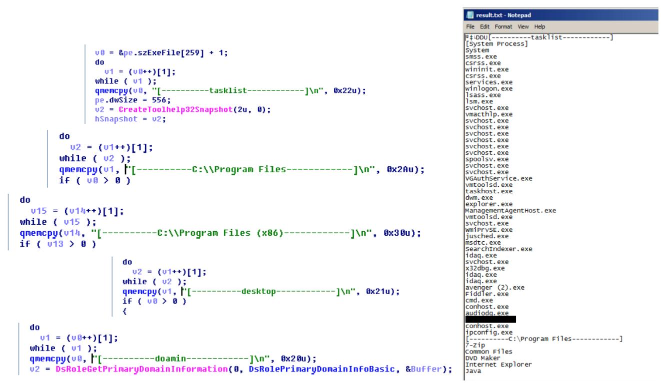 図9:第2段階では、収集された情報が.txtファイルに書き込まれる