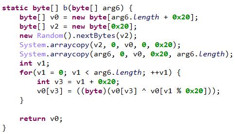 図15:カスタマイズ化された暗号化手順のコード部分
