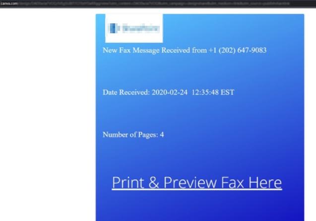 図6:Canva上に作られたフィッシングサイト例