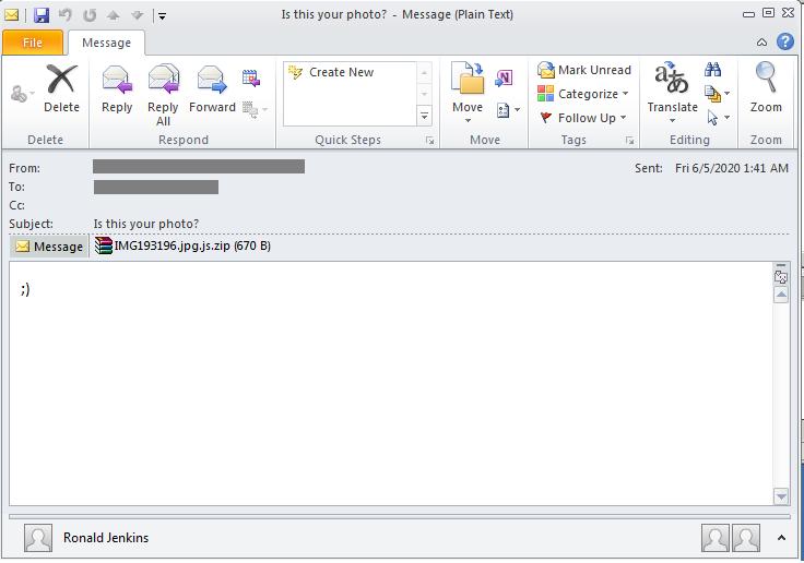 図1:Avaddonの拡散活動に用いられた電子メールの例