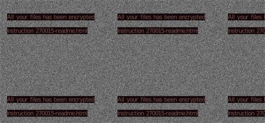 図2:Avaddonの攻撃によって変更されたユーザの壁紙