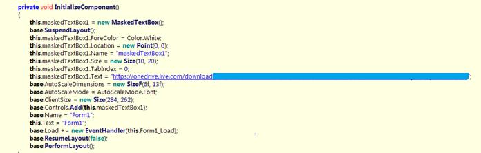 図4:ペイロードをダウンロードするWebサイトを示す「lscm.exe」のコードスニペット