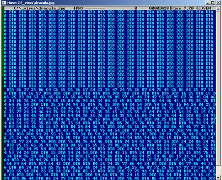 図6:暗号化された不正ファイル「Dracula.jpg」