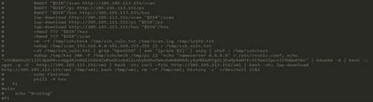 図6:XMIBashスクリプト内から見つかったコメントアウトされたコード