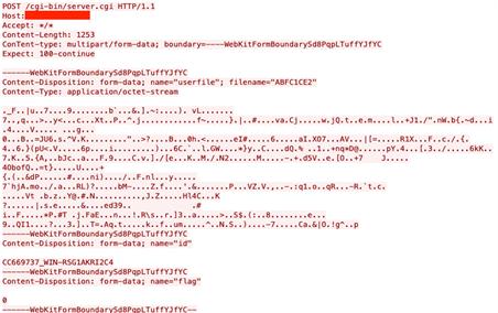 図17:HTTP POSTリクエストを傍受する一例