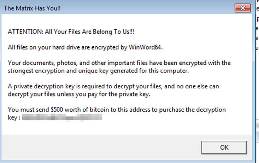 図3:ランサムウェア「CRYPREN」が用いる身代金要求文書(脅迫状)