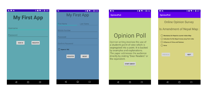 図12:不正活動を備えていないアプリ「MyFirstAPP」と「OpinionPoll」