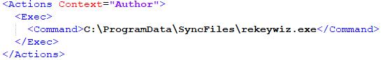 図2:ドロップしたバックドア+スティーラを実行するコマンドを含むスケジュールされたタスク