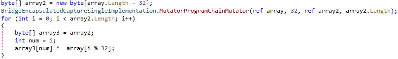 図5:メインのバックドア+スティーラおよび環境設定ファイルの両方を復号するためのアルゴリズム