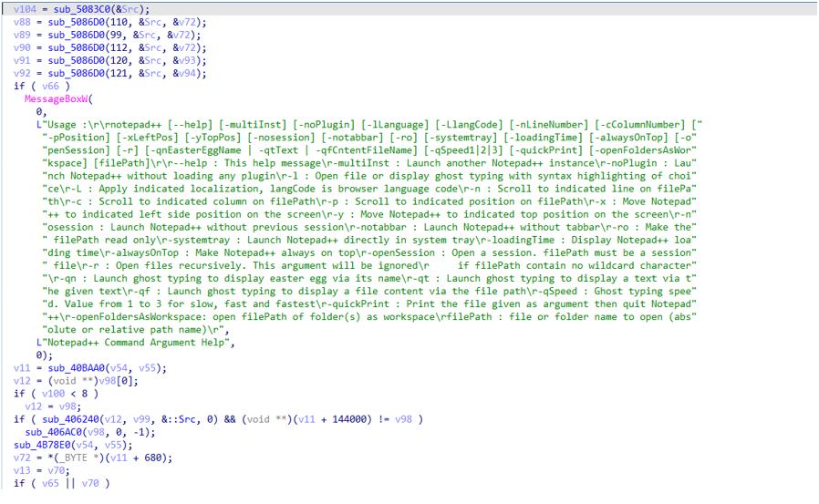 図6:典型的な無害なNotepad-ファイルのコードスニペット