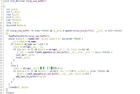 Figure 11. Code snippet showing the list_dir() function