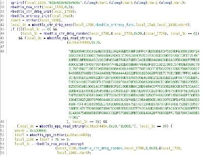Figure 8. Hardcoded RSA public key