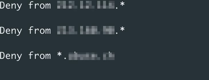 図5:キット開発者がブロックリストに特定のIPアドレスを追記して検出回避を試みたと推測される記述