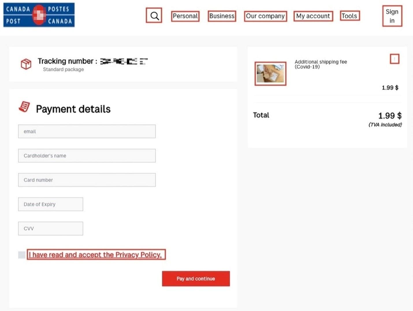図4:次のステップに進むボタンのみリンクが有効となっているサイト
