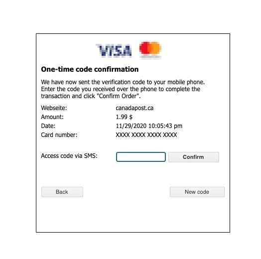 図6:偽のクレジットカード確認ページ
