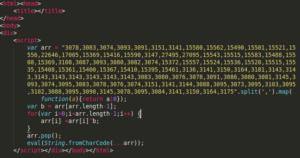 図:BP6リダイレクターの難読化されたJavaScriptの一例