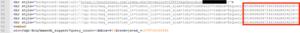 図 4:CSS要素の中に隠された不正なJavaScript