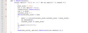 図15:URLペイロードを取得してWebSocketサーバへ送り返すために使用されるバックドアのスクリプト