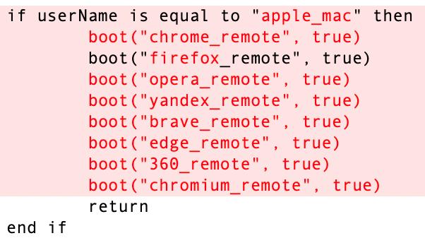 図8:bootstrap.applescriptモジュールのテストコード