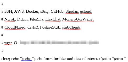 図2:TeamTNTが標的とする設定ファイルをスキャンするための不正コード