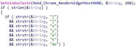 図20:Chromeのウインドウタイトル内の座標を分析するYouTubeモジュール