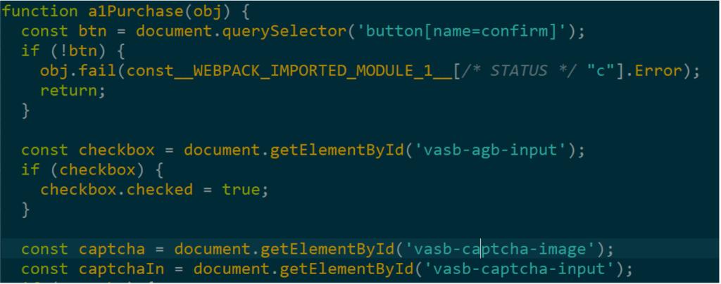 図5:JokerがHTML内の様々な要素を分析・検索するための不正コード