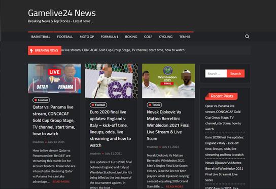 図:不審なスポーツ中継サイトの表示例