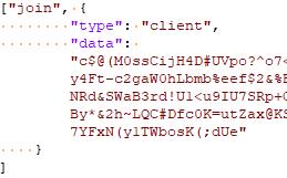 図18:C&Cサーバに送信されたエンコードされた「join」イベント