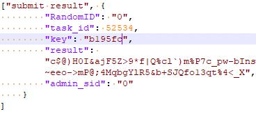 図21:C&Cサーバに送信されたエンコードされた「SUBMIT RESULT」コマンド