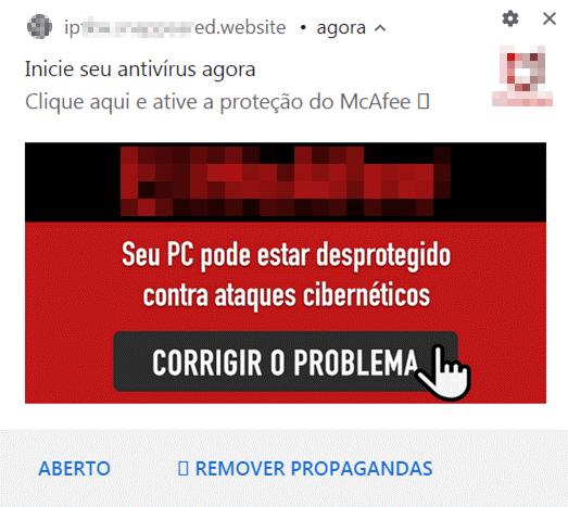 図5:ブラジルのユーザ向けにローカライズされたセキュリティベンダ「McAfee」の広告