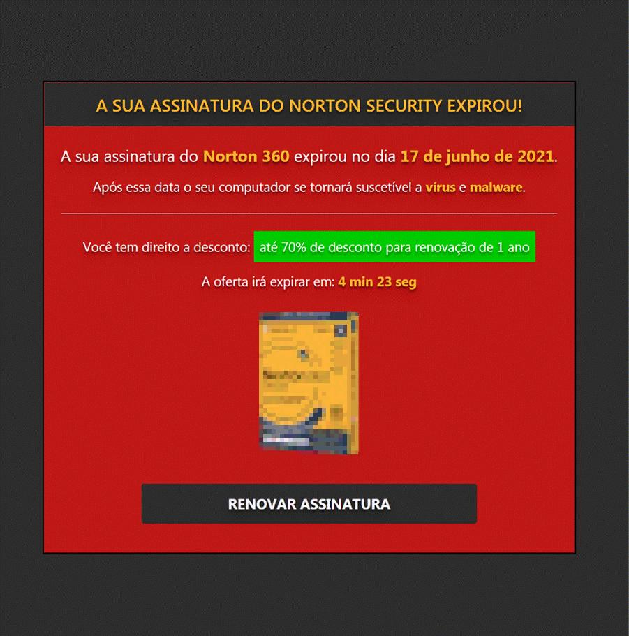 図6:ブラジルのユーザ向けにローカライズされたセキュリティベンダ「Norton」の広告