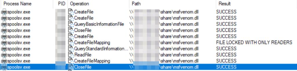 図5:攻撃者が管理するSMBファイル共有フォルダから悪意のあるDLLファイルが取り出される様子