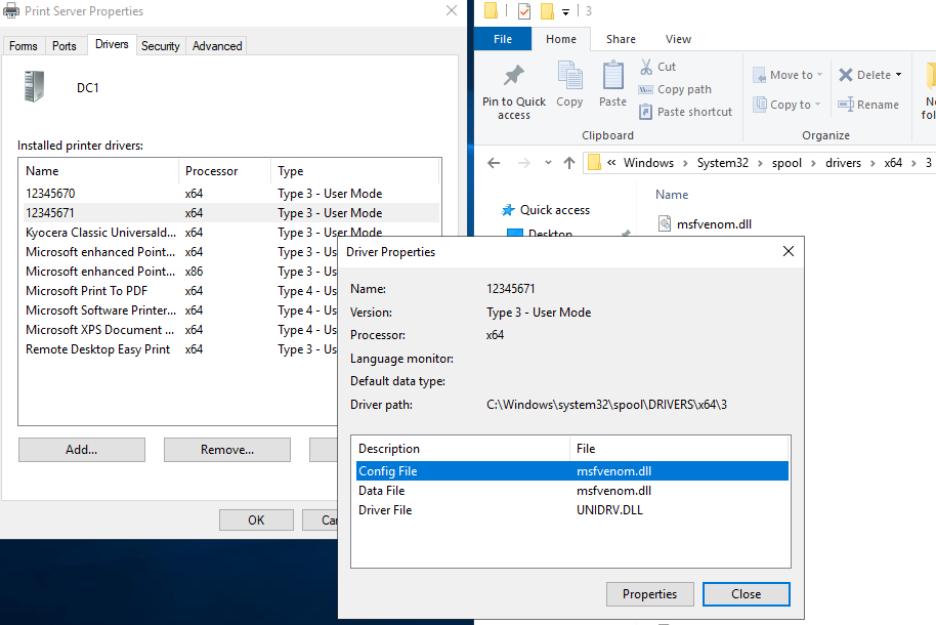 図8:印刷スプーラーサービス内にDLLファイルが読み込まれた時の様子